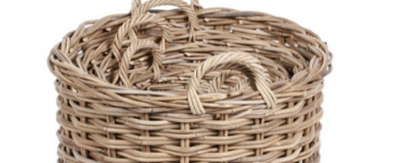 Set of 4 Round Wicker Baskets
