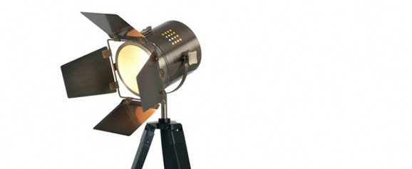 Black Wood Film Light Table Lamp