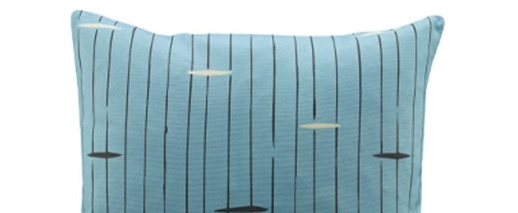 G Plan Vintage Scatter Cushion Flying Saucer Blue