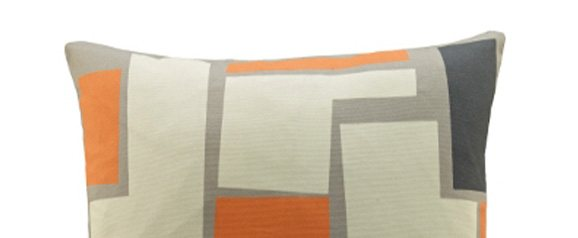 G Plan Vintage Scatter Cushion Wonky Pixel Orange