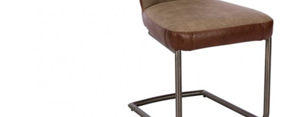 Osgood Dining Chair Grey and Red Brown