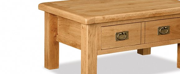 Cheltenham Oak Coffee Table With Drawer