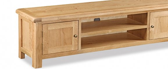 Cheltenham Oak Large Low Line TV Unit