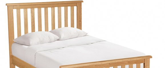 Cheltenham Oak Compact Slatted Bed 4'6