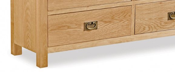 Cheltenham Oak Compact Chest 3 Over 4