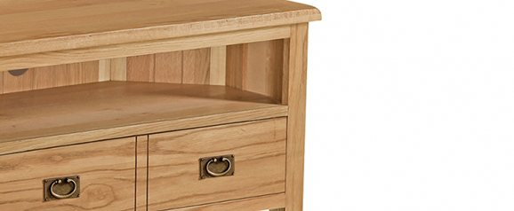 Cheltenham Oak Compact Corner TV Unit