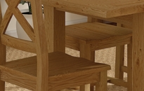 Cheltenham Oak Compact Square Extending table Set With 4 Maine Chairs