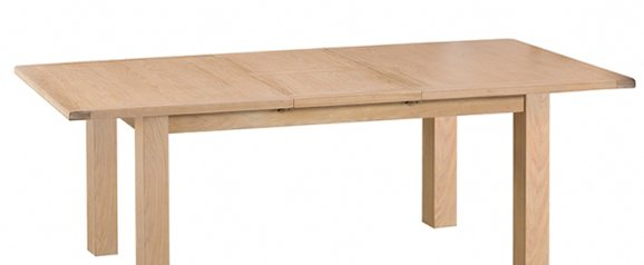 Odessa Wash 1.7m Butterfly Extending Table with Meta Runner