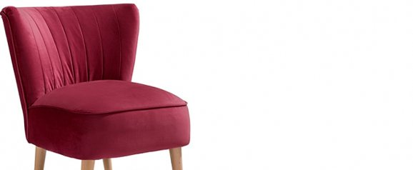 Maisie Accent Chair Plush Claret