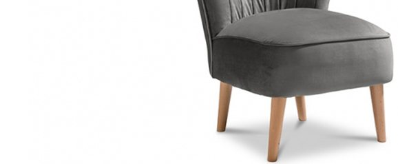 Maisie Accent Chair Plush Steel