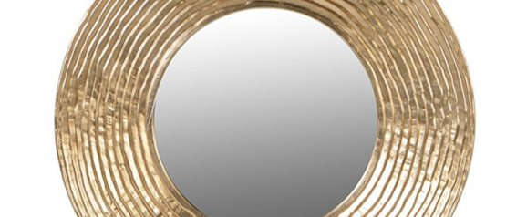 Midas Gold Circle Mirror