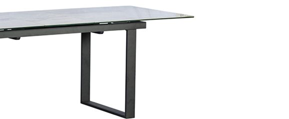 Potter Extending Dining Table Ceramic Light Grey