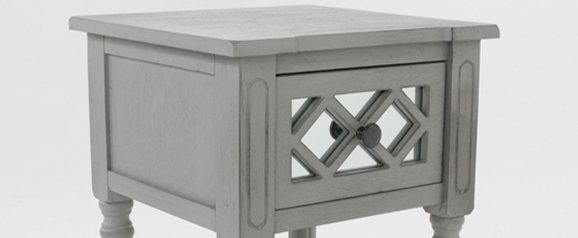 Dove Grey Mirrored Accent Table