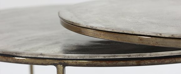 Trieste Silver Circular Coffee Tables