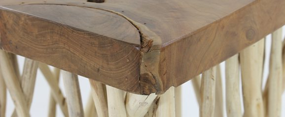 Large Twig Lamp Table