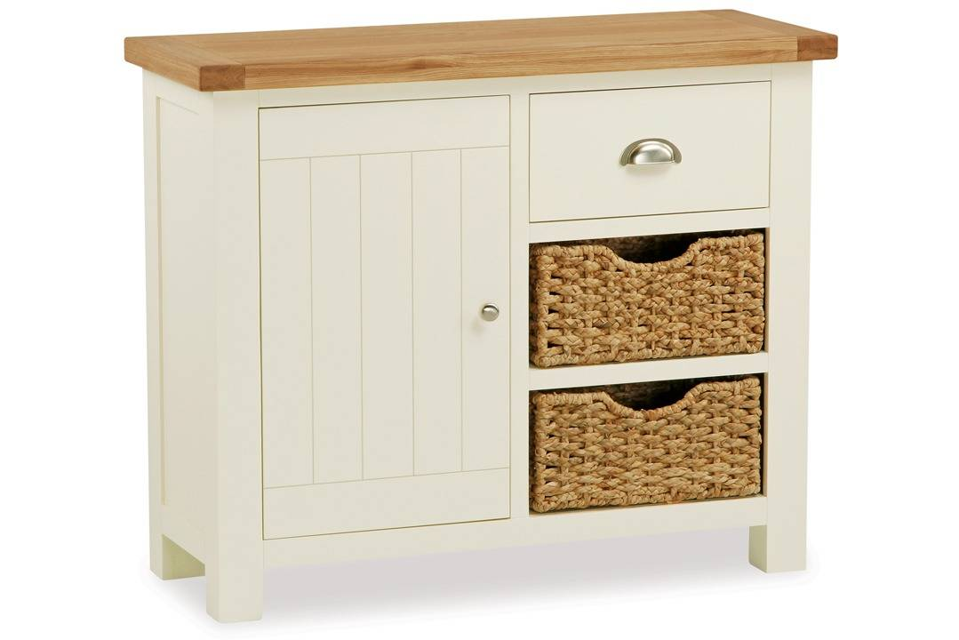 new styles 3883d cd84a Country Cottage Small Sideboard With Basket