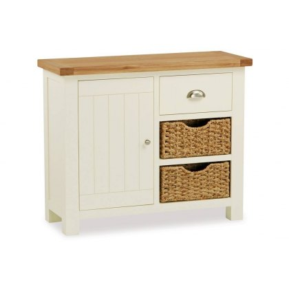 Country Cottage Small Sideboard With Basket