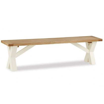 Country Cottage Cross Bench