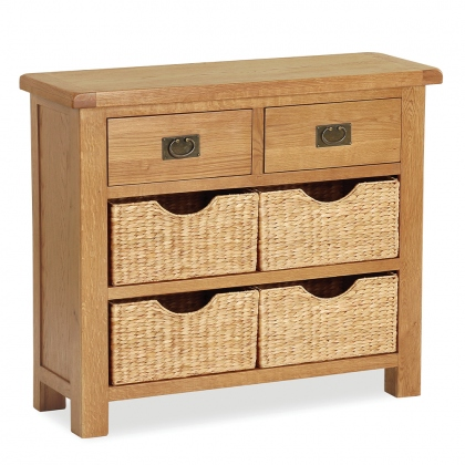 Cheltenham Oak Small Sideboard With Baskets