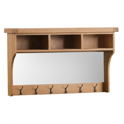 Odessa Oak Hall Shelf Unit