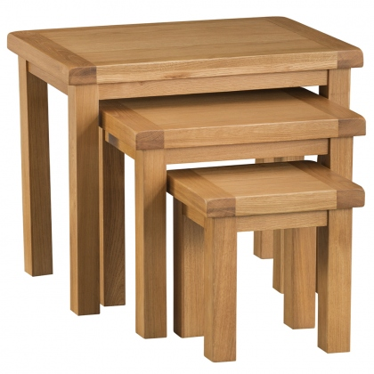 Odessa Oak Nest of 3 Tables