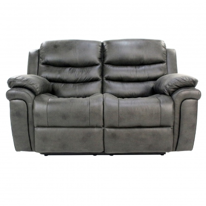 Detroit Grey Fabric 2 Seater Recliner Sofa