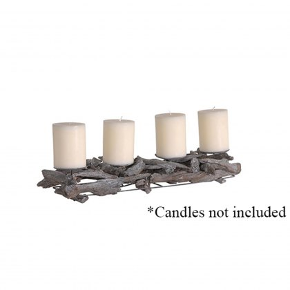 Driftwood Candle Stand