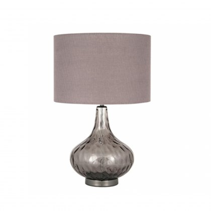 Smoke Glass Dimple Table Lamp