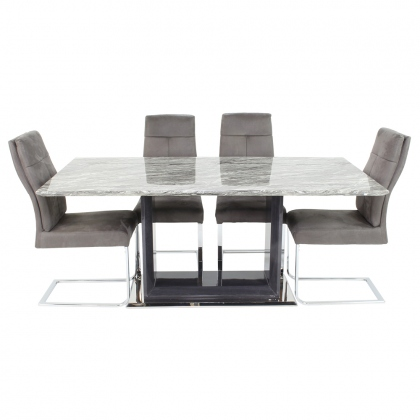 Pavia 180cm Dining Set with 6 Chairs