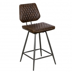 Carson Bar Stool Dark Brown
