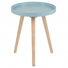 Halston Aqua Round Side Table