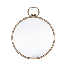 Antique Brass Round Wall Mirror