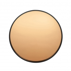 Black Round Mirror with Rose Gold Glass