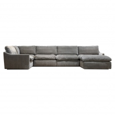 The Cloud Large Left Hand Corner Sofa with Footstool
