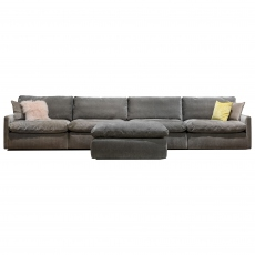 The Cloud Large Sofa with Footstool