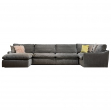 The Cloud Large Right Hand Corner Sofa with Footstool