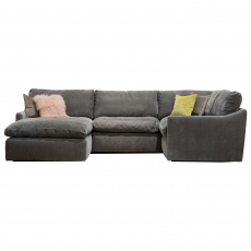 The Cloud Medium Right Hand Corner Sofa with Footstool