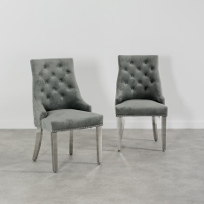 Buckingham Knockerback Dining Chair - Light Grey
