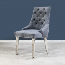 Buckingham Knockerback Dining Chair - Dark Grey