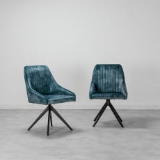 Aiden Blue Dining Chair (Set of 2)