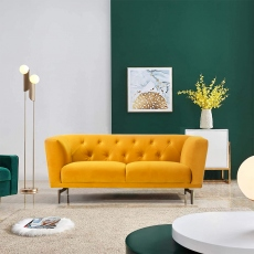 Victoria James Wilson 2 Seater Sofa - Yellow