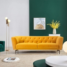 Victoria James Wilson 3 Seater Sofa - Yellow