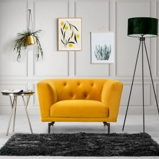 Victoria James Wilson Armchair - Yellow