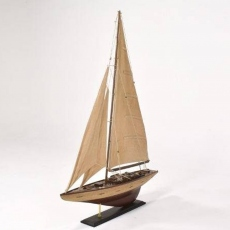 Antique Cream Sails Yacht