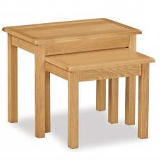 Surrey Oak Compact Nest Of Tables
