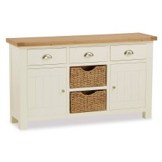 Country Cottage Large Sideboard With Basket