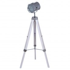 Whitewash Tripod Floor Lamp
