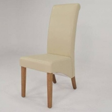 Maine Dining Chair PU Cream