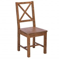 Blake Cross Back Chair wooden Seat