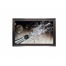 Champagne Bottle Swarovski and Liquid Glass Wall Art